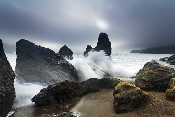 Crashing Waves,<br /> Northern Pacific Coast, CA