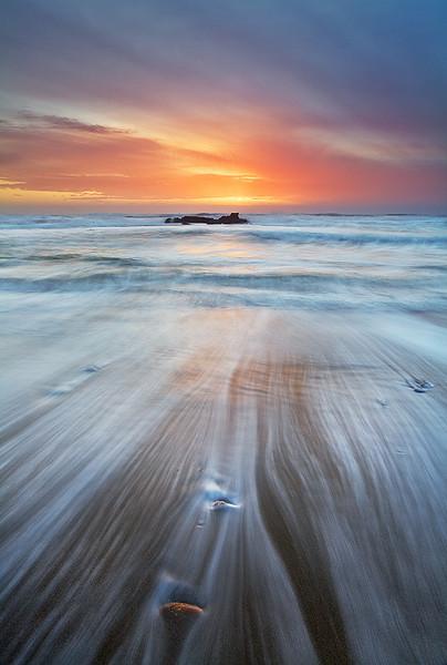 Receding Waves,<br /> Central Pacific Coast, CA