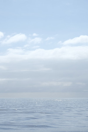 Calm ocean and clouds