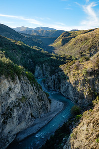Deep gorge in South Island New Zealand