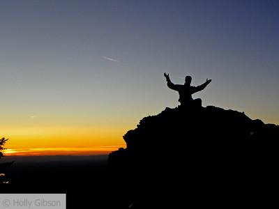 Larch Mountain at sunset