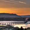 The Dalles bridge at sunset