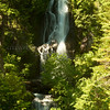 Unnamed falls on old road near Mt. Hood Meadows