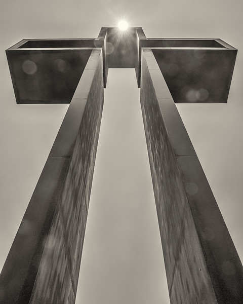 """The Empty Cross""™ - by Max Greiner, Jr. Designs © - The Coming King Sculpture Garden - Kerrville, TX - Photo by DHL Photographix©"