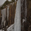 Ice over rocks along Highway 72 north of Fredericktown and south of Ironton as part of our trip to Amidon.
