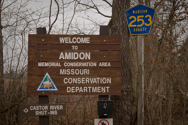 Amidon Memorial Conservation Area is a 1,632 acre area located on the upper reaches of the Castor River in Bollinger and Madison counties.  A portion of the land was donated by Evelyn and Ellsworth Amidon and the Conservation Department acquired additional tracts from private landowners and the US Forest Service. The area consists of hard woods and pines.  Granite shut-ins on the Castor River add an interesting geologic feature.  The Driscoll Tract contains two old grist mill sites that date back to the mid 1800s.  Amidon Conservation Area is located south of State Highway J, approximately 8 miles east of Fredericktown.  County Road 208 fords the Castor River area.