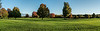 Panorama #2 (of 4):  Golf course in early autumn in early morning