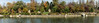 """D294-2017  <br /> Photomerge of four landscape format singles<br /> <br /> A view of the northeast lake shore, as seen from the Round Gazebo peninsula.  The primary focus is on the multi-part granite sculpture """"Existence"""".<br /> <br /> Japanese Garden<br /> Frederik Meijer Gardens & Sculpture Park<br /> Grand Rapids, Michigan<br /> Taken October 21, 2017"""