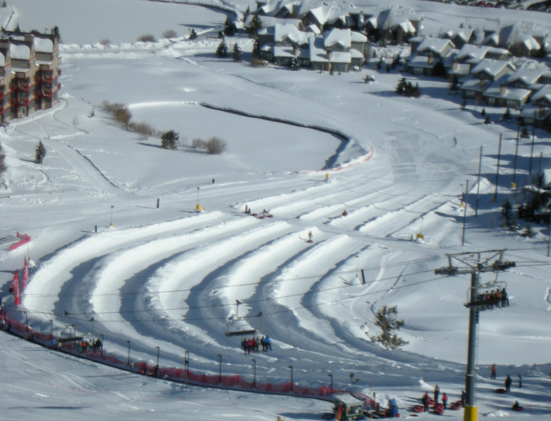 Copper Mountain Tubing Hill from Rosi's Run