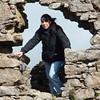 Andrea exploring ruins on Bodmin Moor