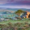 Sunrise over Saddle Tor of Dartmoor, Devon.