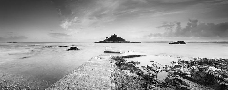 A stormy day at St. Michael's Mount, Cornwall, England.