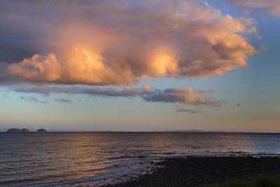 Coromandel, New Zealand.  Clouds during sunset