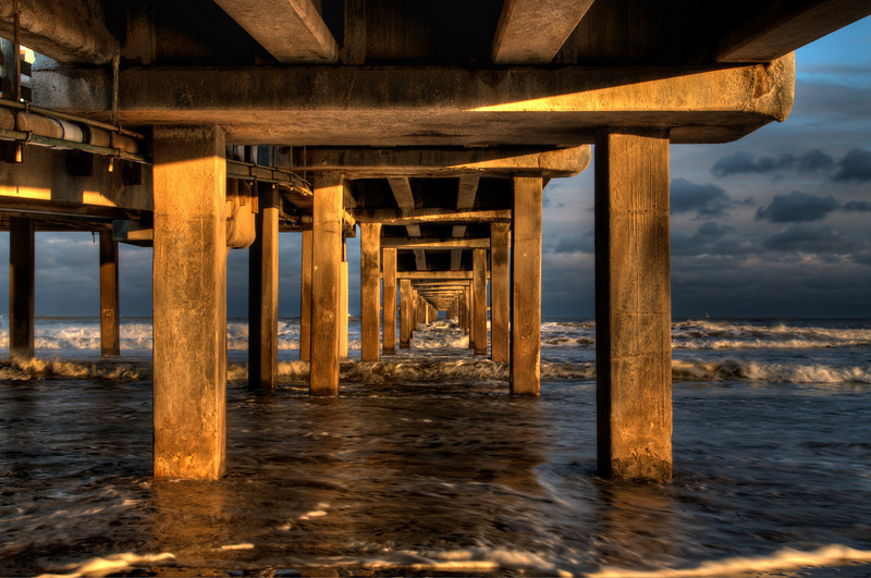 Under the Bob Hall pier