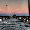 Walking the Bob Hall pier in Corpus Christi, Texas