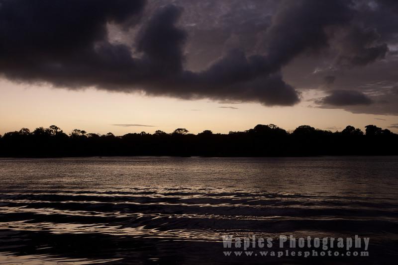 Sunset over Tortuguero Lagoon