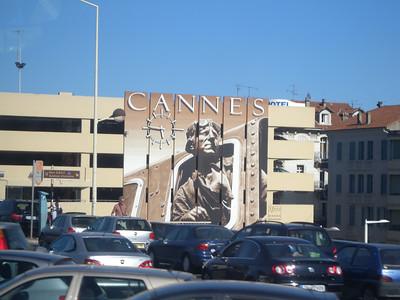 Cannes la Gare et la fresque murale