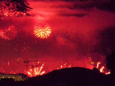 Cannes feux d'artifice festival pyrotechnique