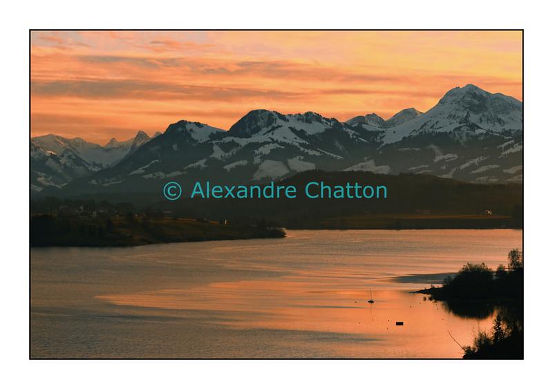 Lac de la Gruyère, décembre 2006.