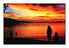 Coucher de soleil sur le lac Léman, vu de Vevey.