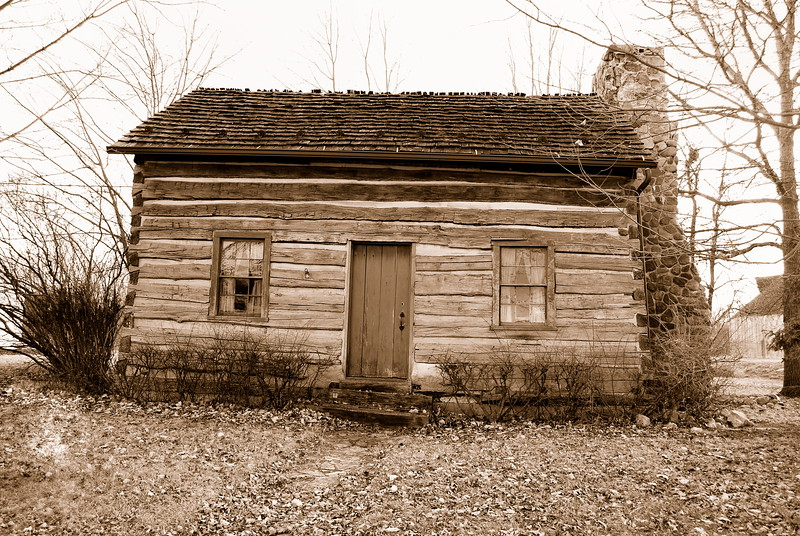Log Cabin built in 1875 . Located in Ottawa, Ohio