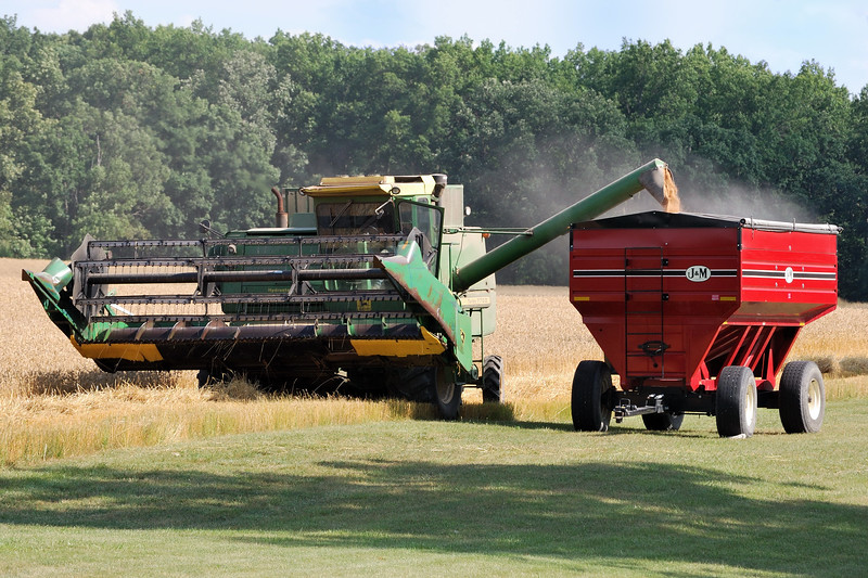 Harvest time here in northwest Ohio. Photo taken in July, 2009