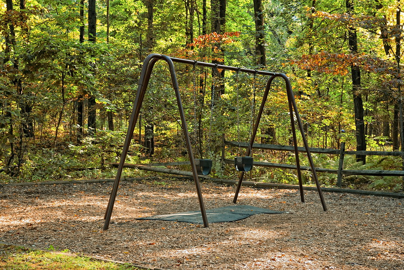 School's Back in Session.... Swing set sitting idle ...settiling in for a long winter.....