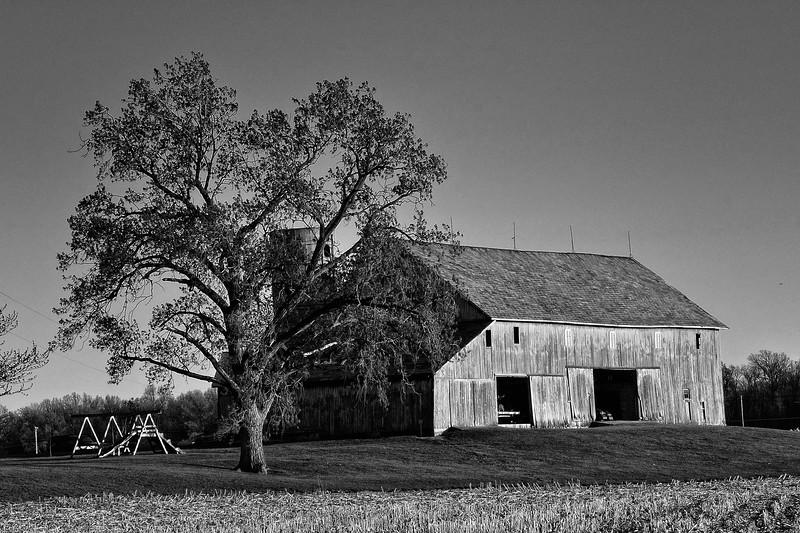 Old Barn in B&W