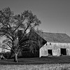 Old Barn in B&W
