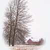 Annie's Red Barn in Winter