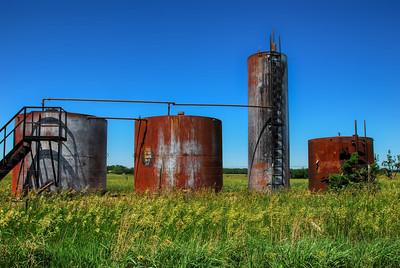Country Scene - Oil Storage Tanks - Photo Taken: June 6, 2008