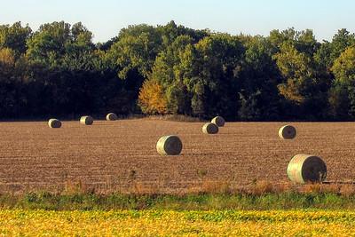 Country Scene - Bales of Hay - Photo Taken: October 3, 2006