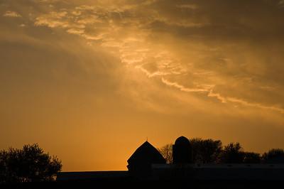 Scenic - Meier farm at sunset - 1