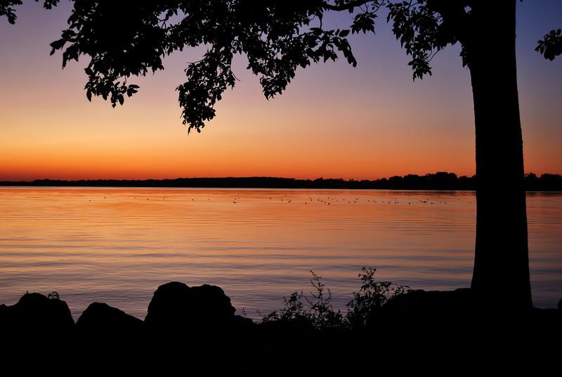 Summer Sunset over Grand Lake-St. Mary's .  Northwest Ohio