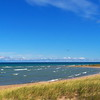 Beach on Lake Huron near the 40 Mile Point Lighthouse <br /> in Michigan