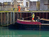 04 March 2011. Barge tying up at the quay. Copyright Peter Drury 2011