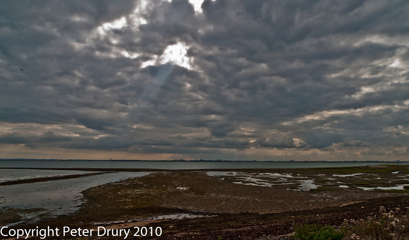 12 Aug 2010 - Portsmouth across Langstone Harbour from North Hayling Island. Copyright Peter Drury 2010