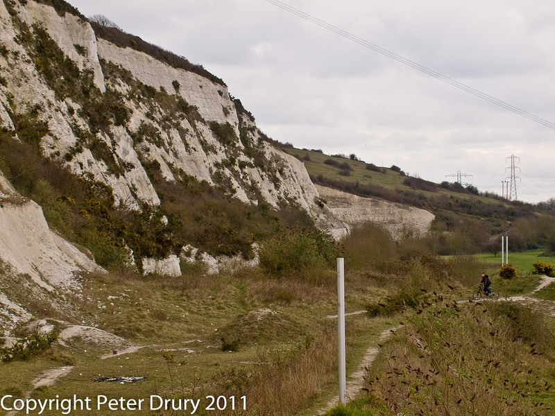 15 March 2011. The Chalk Quarry.  Copyright Peter Drury 2011