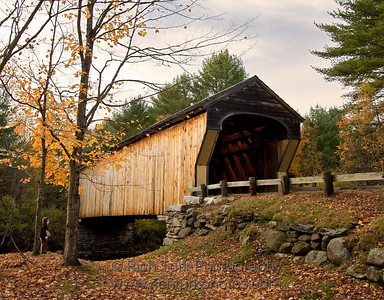 Halloween at the Corbin Bridge, Newport, New Hampshire