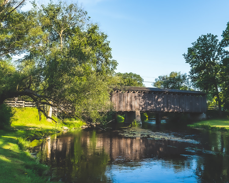Cedarburg Covered Bridge in Ozaukee County Wisconsin