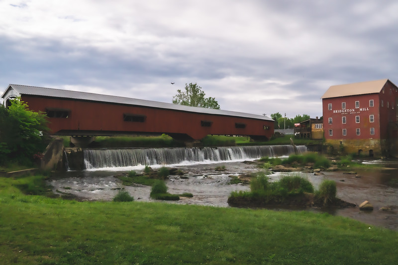 Bridgeton Mill and Covered Bridge in Parke County Indiana