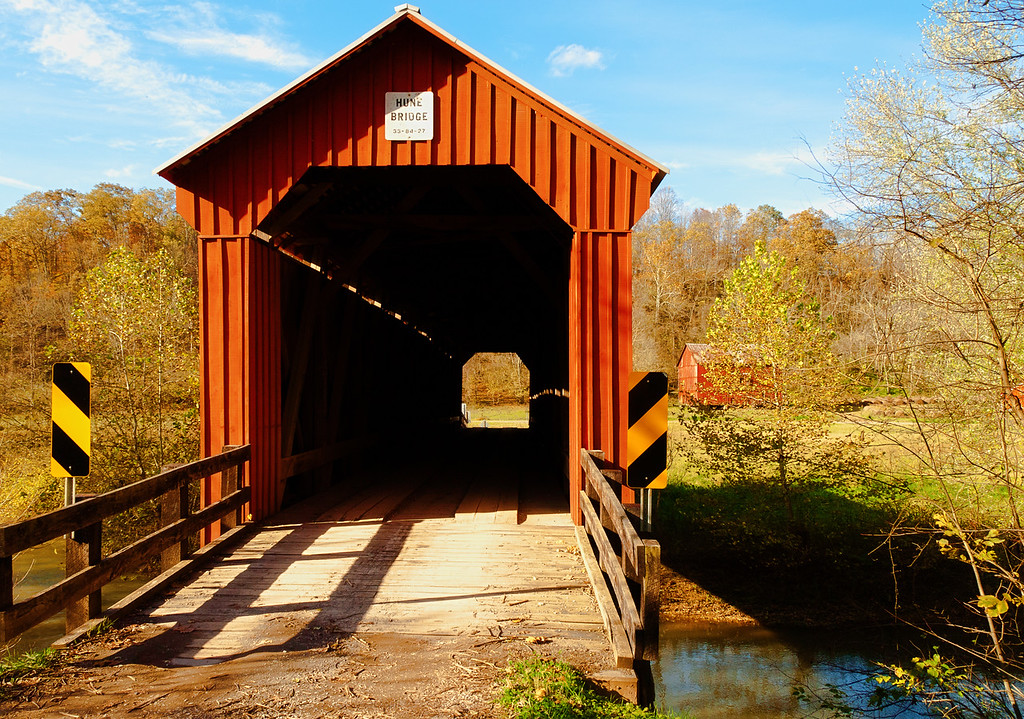 The Hune Covered Bridge near Marietta, OH
