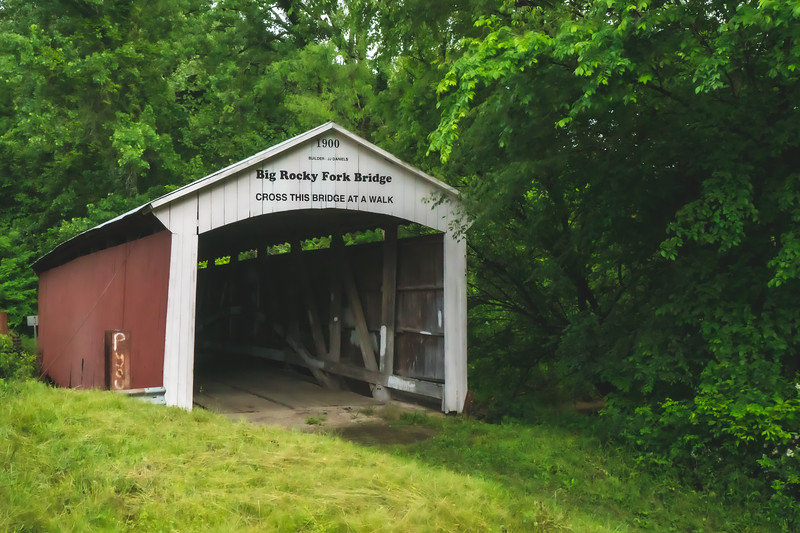 Big Rocky Fork Covered Bridge in Parke County Indiana