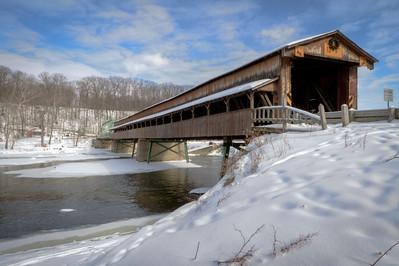 Harpersfield Covered Bridge 005
