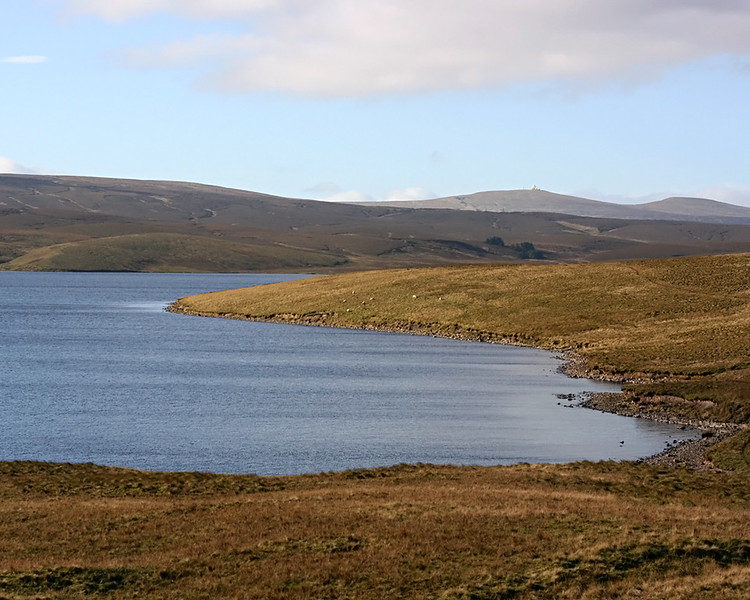 Cow Green Reservoir in Teesdale, Co. Durham