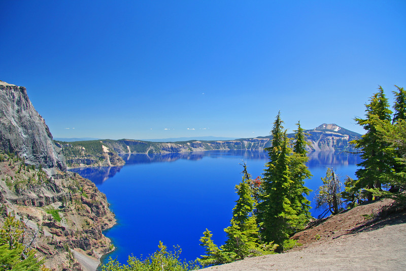 Crater Lake National Park, July 2007<br /> View from West Rim