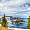 Wizard Island in Crater Lake