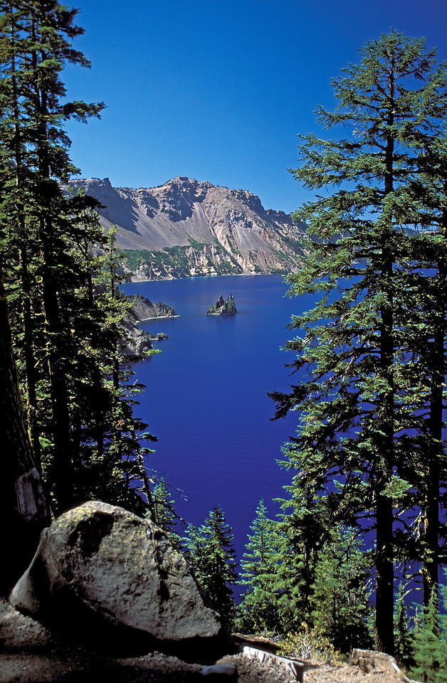 Ghost Ship formation seen from the east rim of Crater Lake, Oregon