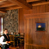 My Supermoon adorns the wall of Dining Hall at Crater Lake Lodge
