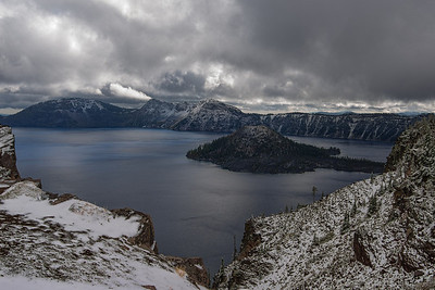 Crater Lake Frist Snow